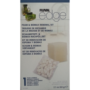 Fluval Edge 23L Foam & Biomax kit