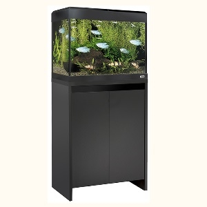 Fluval Roma 90 LED Aquarium and Cabinet Set - Black