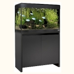 Fluval Roma 125 LED Aquarium and Cabinet Set - Black