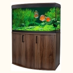 Fluval Vicenza 180 LED Aquarium and Cabinet Set - Walnut